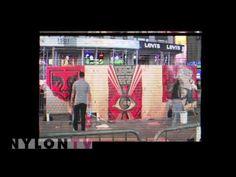 Levi's x Shepard Fairey x Times Square NYC