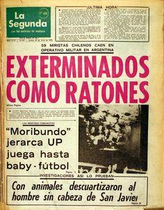 Portada-La-Segunda.jpg (1939×2483) http://www.theclinic.cl/2011/07/26/exterminan-como-ratas-a-miristas/