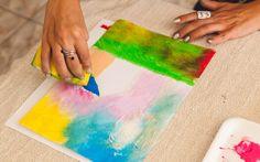 Misture diferentes cores e deixe o trabalho bem alegre. Foto: Edu Cesar