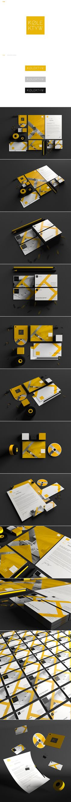 Nice color combo for Kolektyw #identity #packaging #branding PD