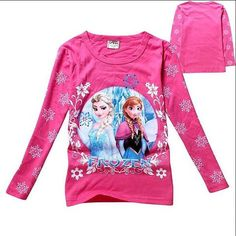 Disney M/ädchen T-Shirt Frozen Diamond Stones