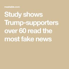 64 best evaluating websites resources fake news alternative study shows trump supporters over 60 read the most fake news fandeluxe Gallery