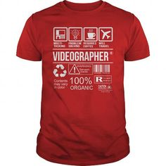 Awesome Tee Shirt Videographer T-Shirts, Hoodies (22.99$ ==► Order Here!)