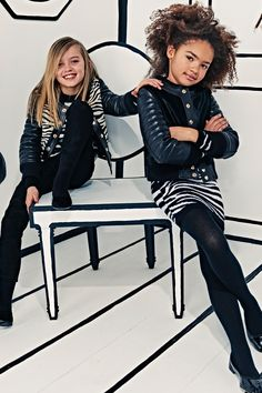 """OLIVIER ROUSTEING has created the collection that """"moms and dads have repeatedly pleaded"""" with him for, the first Balmain kids collection. Riffing on designs that are seen on the womenswear and menswear catwalks - think the classic military jacket and embroidered everything - the collection comprises 55 designs for mini-mes aged between six and 14 years old. Launching in Balmain's virtual and physical stores in June, you can browse the collection on Vogue.co.uk."""