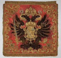 A pre-1757 embroidered banner with the double-headed eagle of the Austro-Hungarian Empire. (Kunsthistorisches Museum Vienna)