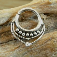 Septum Ring - Septum Jewelry - Septum Piercing - Septum Cuff - Indian Nose Ring - Indian Septum Ring - For Pierced Nose  New and beautifully made of pure silver septum for a pierced nose.  Can be wear as an earing as weil. $17