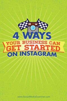 Are you wondering how to use Instagram for business? With the right tactics, Instagram can help you build awareness, boost engagement, and drive foot traffic to your business. In this article you'll discover four ways you can use Instagram to promote your products and services. Via @smexaminer.