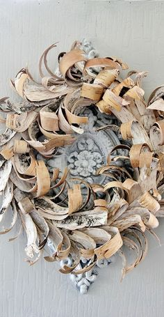 "seasonsofwinterberry: "" Birch Bark Wreath…. """