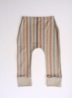 Organic Cotton Burlap Stripe Lounge Pants, modern leggings, kids clothes, baby leggings, toddler leggings by VivieAndAsh on Etsy