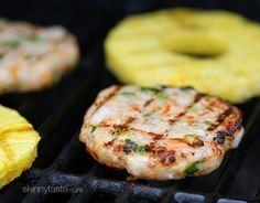 Aloha Teriyaki Shrimp Burgers | Skinnytaste