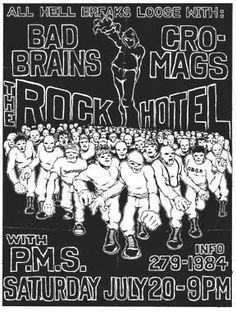 Bad Brains, Cro-Mags punk hardcore flyer