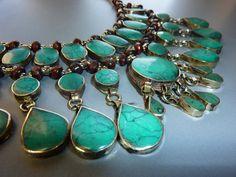 Grüne Tribal-Halskette, Kuchi
