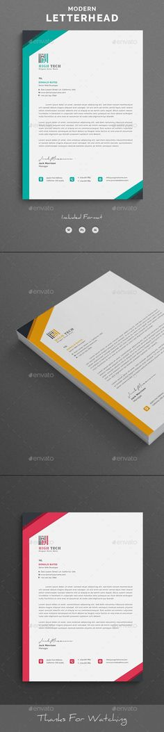 Buy Letterhead Word by telaarte on GraphicRiver. Letterhead Word Template with super modern and Corporate look. Corporate Letterhead page designs are very easy to use. Letterhead Design, Letterhead Template, A4 Paper, Paper Size, Stationary Branding, Change Image, Coreldraw, Page Design, Photoshop