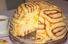 Feestelijke mango-charlotte No Bake Desserts, Easy Desserts, Delicious Desserts, Cake Cookies, Cupcake Cakes, Cake Recept, Charlotte Cake, Best Chocolate Desserts, Dessert Decoration