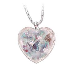 Lena Liu Butterfly Art Breast Cancer Support Crystal Pendant With every purchase a donation is made to Hope for a Cure.