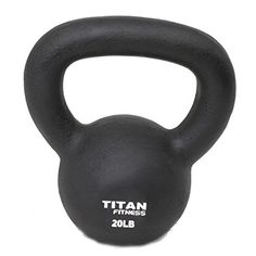 Cast Iron Kettlebell Weight 20 Lbs Natural Solid Titan Fitness Workout Swing >>> You can get additional details at the image link.