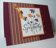 Sympathy using Stampin' Up! Close as a Memory