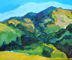 Mt.Diablo up close. Plein Air painting with bold brushwork. California Landscape. Walnut Creek California, Natural Wood, Landscape Paintings, Kendall, Illustration, Nature, Etsy, Art, Devil