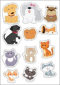 Pets Preschool and Kindergarten Centers. Sort the cats and dogs.