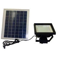 Solar Goes Green Solar Super Bright Black 108-LED Outdoor Flood Light with Timer