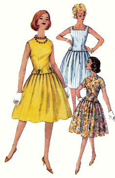 50s Top & Full Skirt Sewing Pattern Simplicity 3913 Two Piece Dress Vintage Paper Pattern Size 12 Bust 32 inches