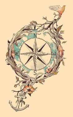 An instrumental aid, a compass provides guidance and navigation through life's unexpected twists and turns. Each cardinal direction has a significant meaning. North represents home and infinite possibility. South embodies passion and the present. East signifies new beginnings and the future. West symbolizes emotion and new beginnings.