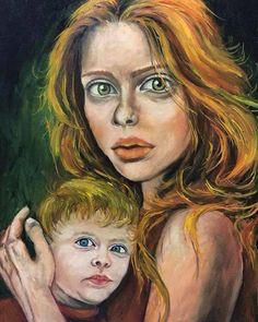 Kızıl - 2 (Redhead - 2) by Aynur Gürsoy Tuval üzerine #YağlıBoya / #Oiloncanvas  40cm x 60cm  #tablo #gallerymak #sanat #artoftheday #modernart #painter #fineart #woman #portre #portrait #kızıl #redhead #instacool #ressam #resim #cool #follow #oilpainting #artwork #arte #contemporary #contemporaryart #color #painting