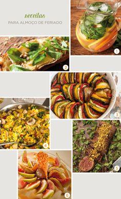 No final de semana é sempre legal fazer um almoço um pouco mais elaborado e reunir a família... Para inspirar o seu menu, confira algumas receitas e salve as preferidas.