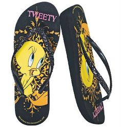 Tweety Glitter Flip-Flop http://awesomeavon.blogspot.ca/2009/06/all-things-tweety.html