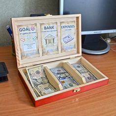 "On the surface, it's a usual wooden box for money. But it's not really so. ""CASHBOX for kids"" is a financial learning tool for kids aged 5-14. With the help of it, parents can teach their children how to deal with money. In addition, children will learn to set goals and reach them. Actually, it's not a game (in its traditional meaning) as children will deal with real money. There are three sections in the CASHBOX: 1. GOAL - children must set a goal - anything they want to possess (e.g. a…"