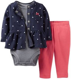 Carter's Baby Girls' 2 Piece Cardigan Set (Baby) - Navy - 12 Months