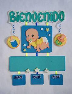 Letreros De Bienvenida Para Bebes Juegos Baby Shower Niño, Dibujos Baby Shower, Baby Shawer, Baby Album, Summer Desserts, Baby Boy Shower, Baby Room, Party Time, Decoupage