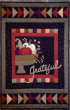 """Grateful"" quilt pattern by Pam Puyleart, Cottage Creek Quilts"