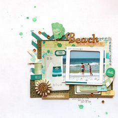 deb duty {photography + scrapbooking}: scrapbook layout: the pier by crate paper
