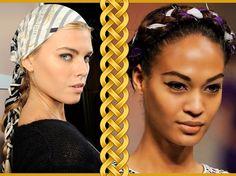 Tranças com lenço deixam o seu penteado cheio de romance. <3 http://www.bottero.net/blog/dicas/trance-o-seu-lenco/