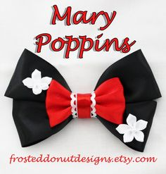 Items similar to Disney's Mary Poppins inspired Bow! on Etsy