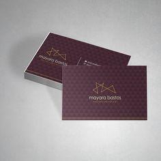 """Check out this @Behance project: """"Cartão de visita Mayara Bastos""""…"""