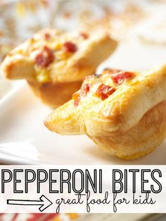 Pepperoni Bites - great food for kids. Your kids will LOVE these pepperoni bites, and you'll love how simple they are to make.