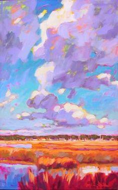 Betty Anglin Smith - High+Cumlus+over+Shem+Creek--High Cumlus over Shem Creek oil on linen 48 x 30 inches $8,800