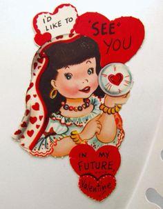 Vintage Gypsy Fortune Teller Crystal Ball by HappyAnatomy on Etsy, $6.00