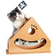 Hide and Seek Cats Toy Box Environmental-Friendly Wood Pendulum Style Interactive Puzzle Toys for Kitten * More details can be found by clicking on the image. #CatToys
