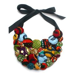 Christie Brown Bib Necklace #ankara #accessories
