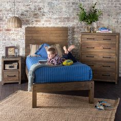 Stonemill King Single Bed - Products - 1825 interiors Head height: 1425mm; Foot height: 440mm. Normal retail $599
