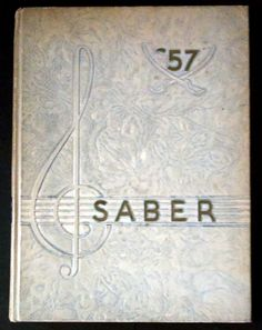 Vintage 1957 SABER Kentucky Military Institute Year Book by AntiquesandStuff56…