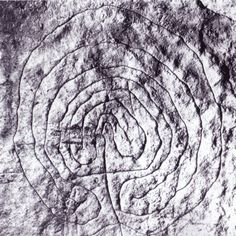 """Possibly the world's oldest surviving labyrinth"""" -- Symbol present in the """"Domus de Jana"""" of Luzzanas in Sardinia (Italy); it's dated about 6000 years old"""