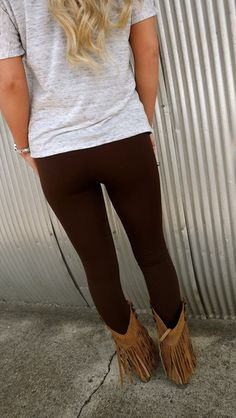 Dark Brown Leggings