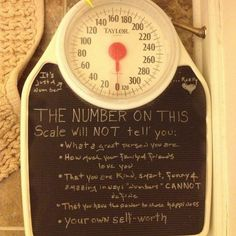 What a scale will NOT tell you- More Than Just A Number.