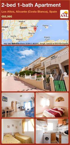 2-bed 1-bath Apartment in Los Altos, Alicante (Costa Blanca), Spain ►€65,995 #PropertyForSaleInSpain