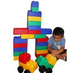 Kids Adventure Jumbo Blocks with Wheels Big City 40-Piece Play Set