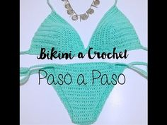 Bikini para Niña a Crochet Fácil/DIY Easy Crochet Bikini Top Tutorial - YouTub. Motif Bikini Crochet, Tops A Crochet, Bikinis Crochet, Crochet Shorts, Crochet Blouse, Easy Crochet, Crochet Woman, Crochet Videos, Photos Du